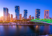 seoul city with beautiful at night