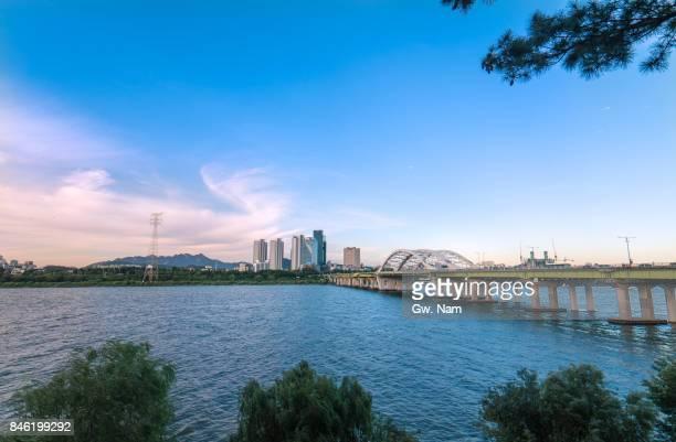Seoul cityscape around Han River