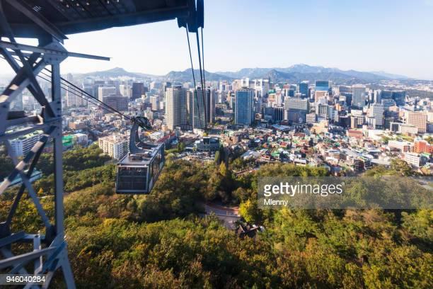 Seoul Cityscape Cable Car Namsan South Korea