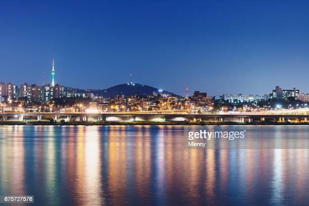 Seoul Cityscape Reflections at Twilight South Korea