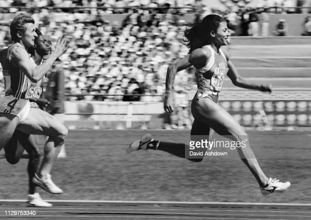 Seoul Olympic Games 1988 Florence Griffith Joyner about to win the 100m