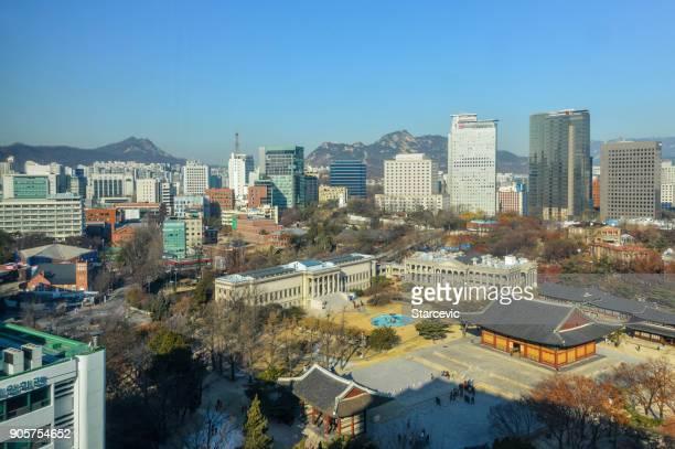 Seoul skyline featuring Deoksugung Palace