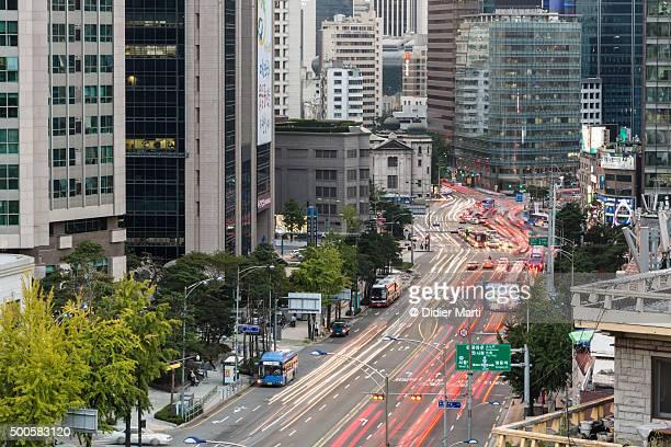 Seoul street rush