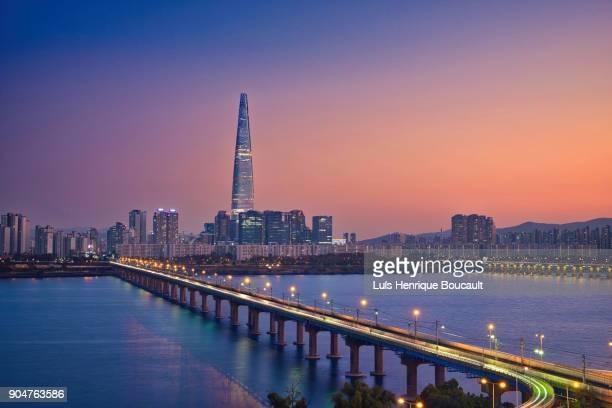seoul & sunset - coreia do sul - fotografias e filmes do acervo