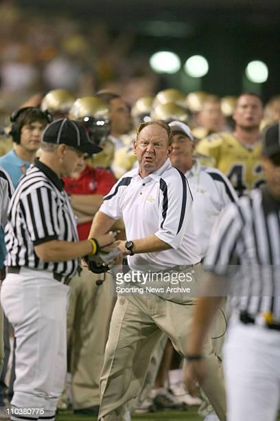 Sep 02 2006 Atlanta GA USA Georgia Tech head coach CHAN GAILEY during Notre Dame University against Georgia Tech University at Bobby Dodd Stadium...