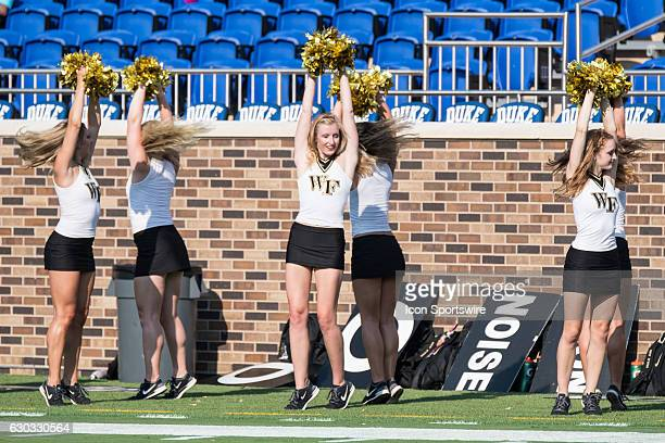 Wake Forest Demon Deacons Cheerleaders NCAA College Football Wake Forest at Duke Wallace Wade Stadium Durham NC