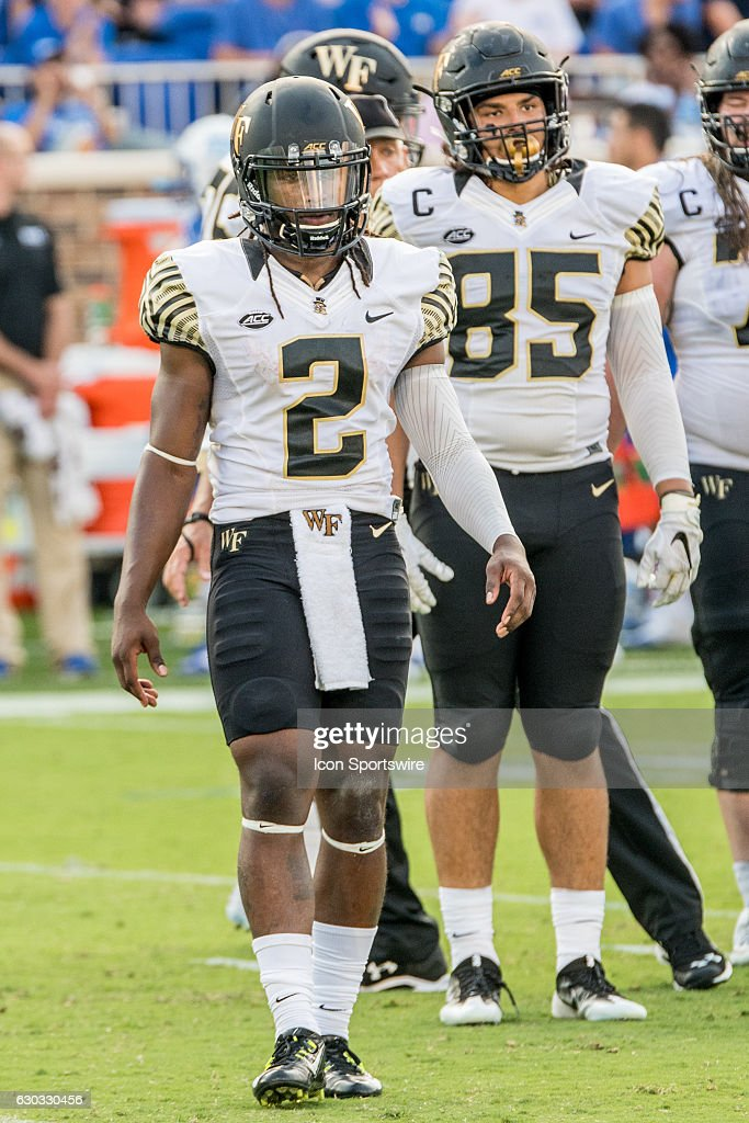 Wake Forest Demon Deacons quarterback Kendall Hinton and ...