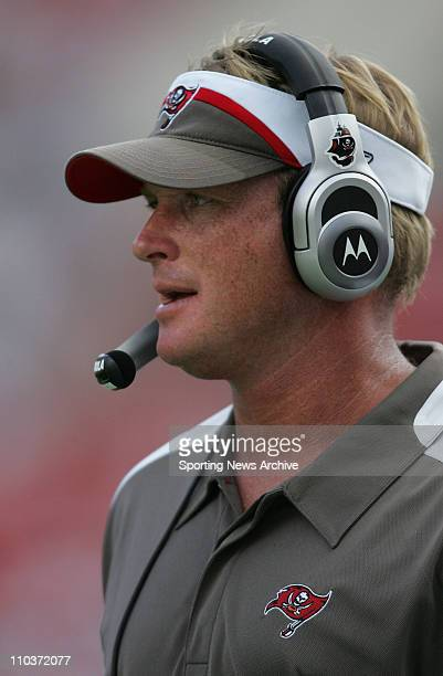 Sep 16 2007 Tampa Bay FL USA FOOTBALL New Orleans Saints against Tampa Bay Buccaneers coach JON GRUDEN on Sept 16 2007 in Tampa FL The Tampa Bay...