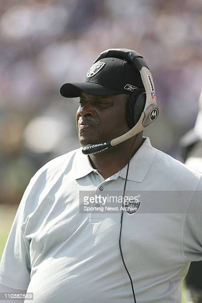 Sep 17 2006 Baltimore MD USA NFL Football Oakland Raiders head coach ART SHELLat the Baltimore Ravens at MT Bank Stadium in Baltimore The Ravens won...