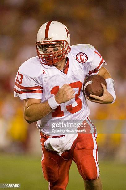 Sep 17 2006 Los Angeles CA USA NCAA Football Nebraska Zac Taylor at University of Southern California on Saturday September 16 2006 in Los Angeles CA...