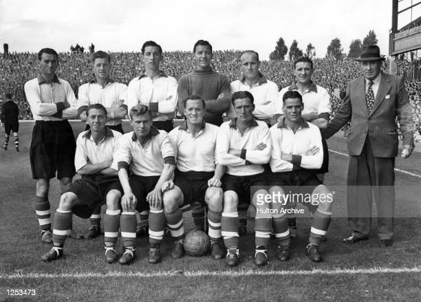 The Liverpool team of 1949: back row: l-r PH Taylor, E. Spicer, L. Hughes, C. Sidlow, R.Lampert, Bob Paisley & George Kay ; front row: l-r JB. Payne,...