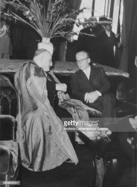 Sep 1955 Cardinal Roncalli and President Gronchi