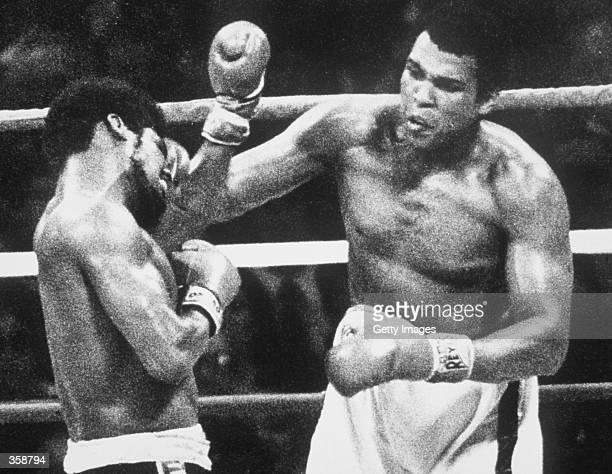 Muhammad Ali wins his third World Heavyweight Title against Leon Spinks Mandatory Credit Allsport UK/Allsport