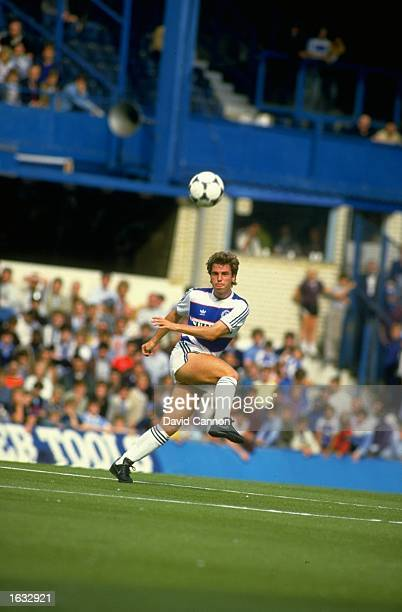 Ian Dawes of Queens Park Rangers in action during a Canon League Division One match against Nottingham Forest at Loftus Road in London Queens Park...