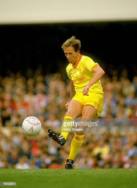 Phil Neal of Liverpool in action during a Canon League Division One match against Arsenal at Highbury in London. Arsenal won the match 3-1. \...