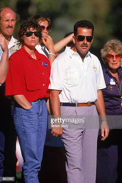 Sam Torrance of the European team with wife Suzanne Danielle during the Ryder Cup at Muirfield Village GC in Ohio USA Mandatory Credit Simon Bruty...