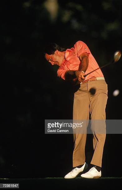 Seve Ballesteros of the European team in action during the Ryder Cup at Muirfield Village GC in Dublin Ohio USA Mandatory Credit David Cannon...