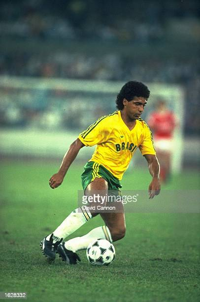 Romario of Brazil in action during a match at the 1988 Olympic Games in Seoul South Korea Brazil won the Silver Medal Mandatory Credit David...