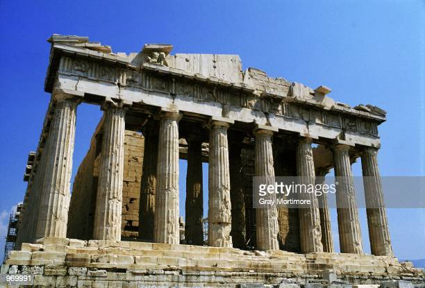 General View of the Parthenon Temple on the Acropolis in Athens Greece Greece is the venue for the 2004 Olympic Games Mandatory Credit Gray Mortimore...
