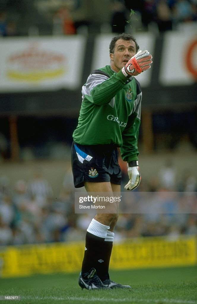 Newcastle goalkeeper John Burridge gesticulates during a League Division Two match against Millwall at St James'' Park in Newcastle, England. Millwall won the match 2-1. \ Mandatory Credit: Steve Morton/Allsport