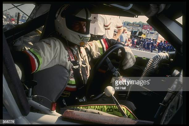A view inside the car of NASCAR driver Dale Jarrett during the Martinsville World Cup race event at the Martinsville Speedway in Martinsville...