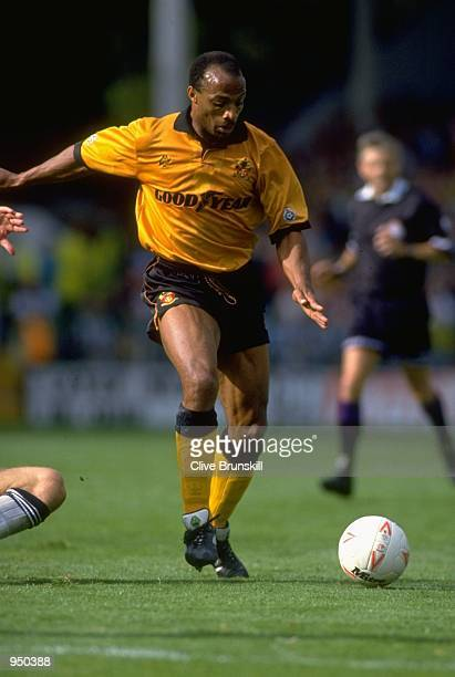 Cyrille Regis of Wolverhampton Wanderers in action during a League Division One match against West Bromwich Albion at The Hawthorns in West Bromwich...