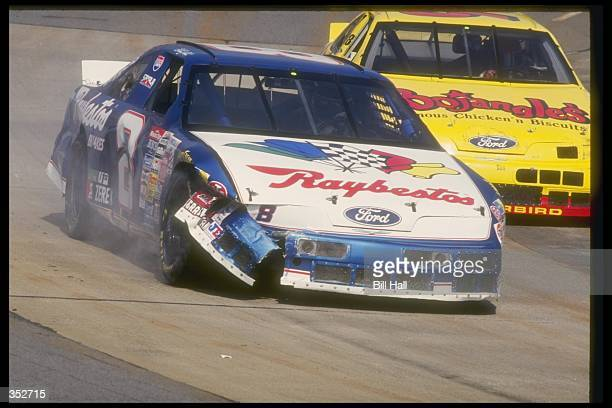 The Raybestos Ford of Sterling Marlin in action during the Winston Cup race at the Martinsville Speedway in Martinsville Virginia