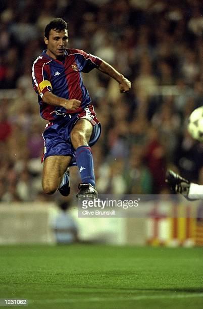 Hristo Stoichkov of Barcelona in action during a match Mandatory Credit Clive Brunskill/Allsport
