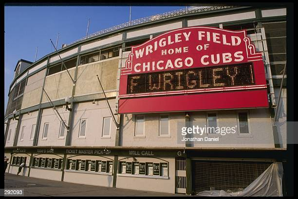 View of Wrigley Field in Chicago, Illinios. Mandatory Credit: Jonathan Daniel /Allsport