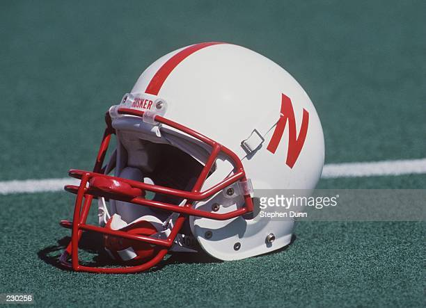 A University of Nebraska helmet lies on the field during the Cornhuskers 7728 win over Arizona State at Memorial Stadium in Lincoln Nebraska