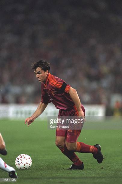 Abel Balbo of Roma in action during a Serie A match against AC Milan at the Olympic Stadium in Rome Mandatory Credit Allsport UK /Allsport