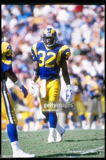 Defensive back Toby Wright of the St. Louis Rams during the Rams 31-10 win over the Carolina Panthers at Memorial Stadium in Clemson, South Carolina....
