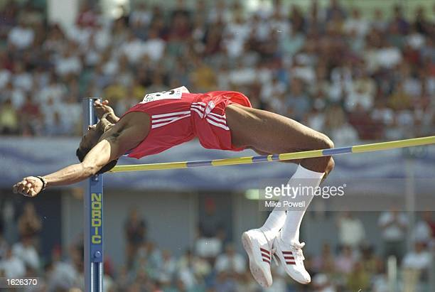 Javier Sotomayor of Cuba clears the bar during the High Jump Qualifying event at the World Champioships in th Ullevi Stadium in Gothenburg, Sweden. \...