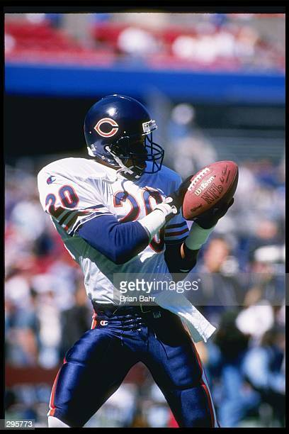 Safety Mark Carrier of the Chicago Bears catches the ball during a game against the St Louis Rams at Busch Stadium in St Louis Missouri The Rams won...