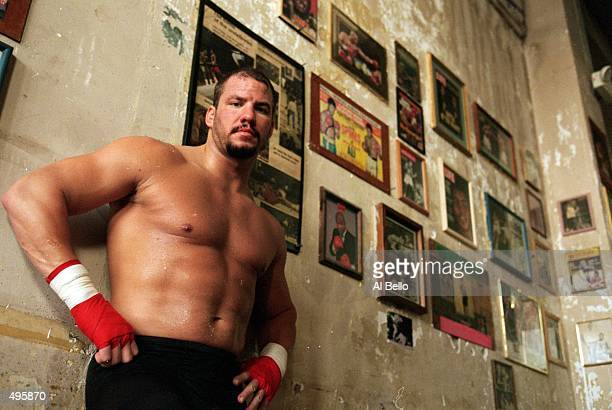Tommy Morrison poses for the camera at the Main Street Gym in Tulsa Oklahoma Mandatory Credit Al Bello /Allsport