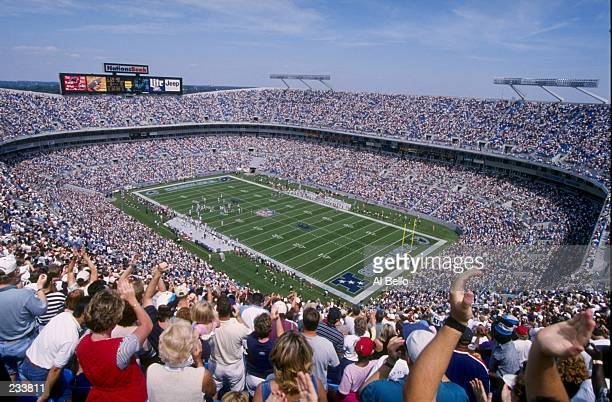 A general view of Ericsson Stadium in Charlotte North Carolina during the Carolina Panthers 296 victory over the Atlanta Falcons Mandatory Credit Al...