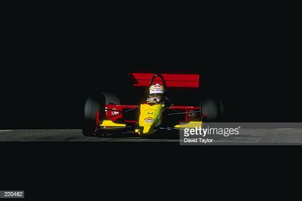 Andre Ribiero of Tasman Motorsports Group drives his Lola T96 Honda during the Molson Indy in Vancouver British Columbia Canada The race is the 14th...
