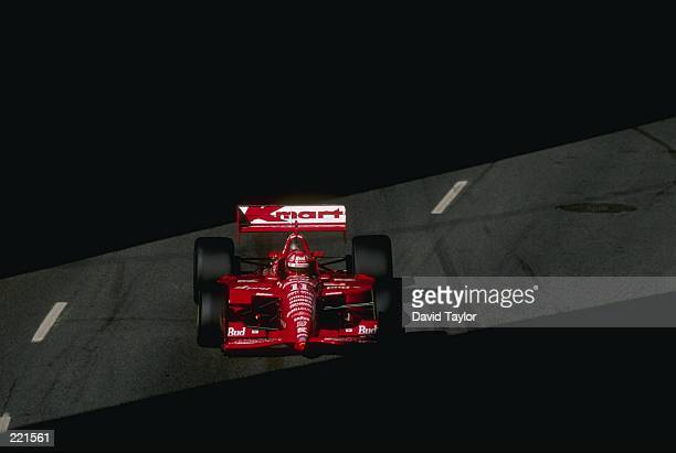 Christian Fittipaldi of Newman Hass Racing drives his Lola T96 Ford during the Molson Indy in Vancouver British Columbia Canada The race is the 14th...