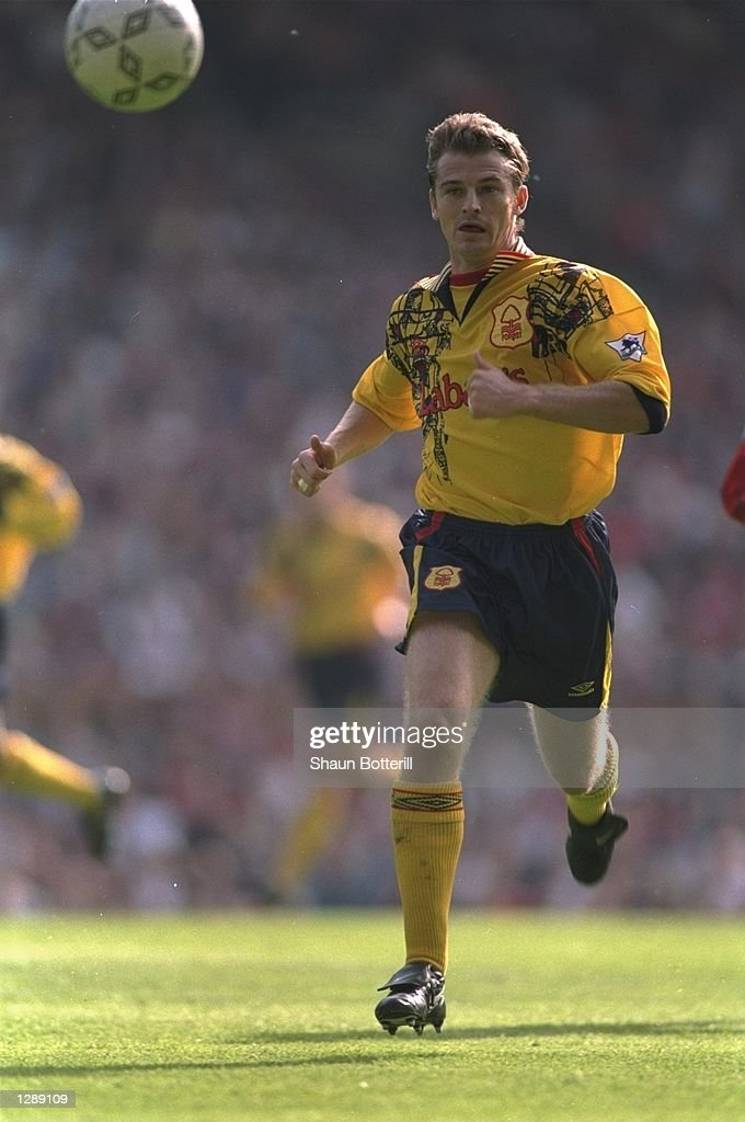 Colin Cooper of Nottingham Forest in action during an FA Carling Premiership match against Manchester United at Old Trafford in Manchester, England. \ Mandatory Credit: Shaun Botterill/Allsport