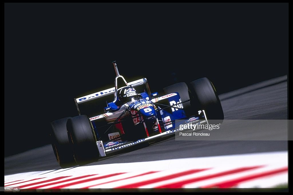 Damon Hill driving for the Williams team does well to get pole position in qualifiying during the Italian grand prix at Monza in Italy. Mandatory Credit: Pascal Rondeau/Allsport
