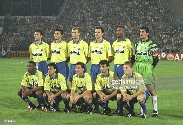 Fenerbahce SK teamgroup taken before the start of the champions league match between Fenerbahce and Juventus in Turkey. Juventus went on to win the...