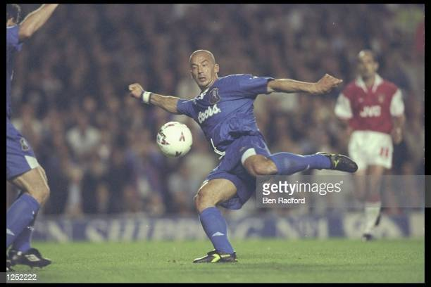 Gianluca Vialli of Chelsea for in action during the FA Carling Premiership match between Arsenal and Chelsea at Highbury in London The match ended in...