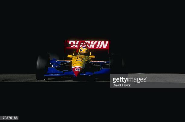 Hiro Matsushita of Payton/Coyne Racing drives his Lola T96 Ford during the Molson Indy in Vancouver British Columbia Canada The race is the 14th race...