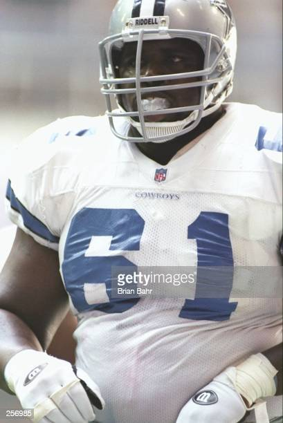 Offensive lineman Nate Newton of the Dallas Cowboys looks on during a game against the Indianapolis Colts at Texas Stadium in Irving, Texas. The...