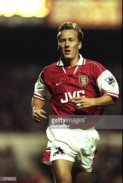 Portrait of Lee Dixon of Arsenal during an FA Carling Premiership match against Sheffield Wednesday at Highbury Stadium in London Mandatory Credit...
