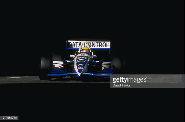 Roberto Moreno of Payton/Coyne Racing drives his Lola T96 Ford during the Molson Indy in Vancouver British Columbia Canada The race is the 14th race...
