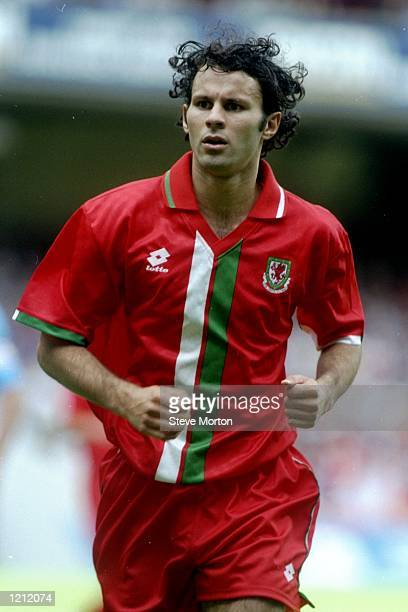 Ryan Giggs of Wales keeps his eye on the ball during the World Cup qualifying match against San Marino in Wales Wales won the match 60 Mandatory...