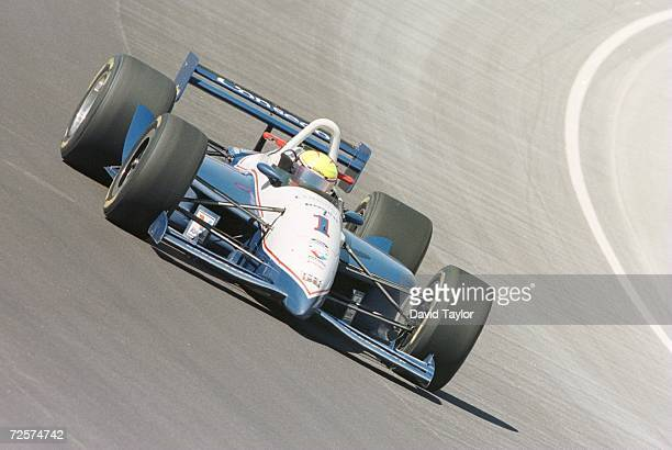 Scott Sharp powers his AJ Foyt Racing Lola Ford T95/00 through turn one of the track during the Las Vegas 500K Round Two of the Indy Racing League...