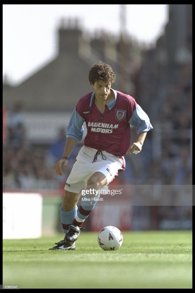 Slaven Bilic of West Ham in action during the FA Carling Premiership match between West Ham and Wimbledon at Upton Park in London. Mandatory Credit: Mike Hewitt/Allsport