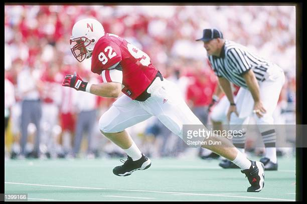 Travis Toline of the Nebraska Cornhuskers in action during a game against the Michigan State Spartans at Memorial Stadium in Lincoln Nebraska...